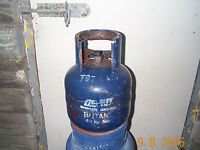 FLOGAS 4.5kg butane bottle, empty £10, for D.I.Y. tools, plumber, painter. Collect from Pontatdawe.