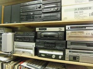 Stereo components, amps, cassette decks, tuners etc