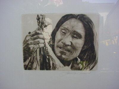 Albert Adam Schönbrod - Indianer - Original-Radierung