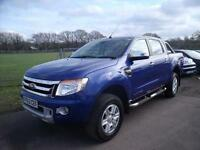 FORD RANGER LIMITED 4X4 DCB TDCI, Blue, Manual, Diesel, 2013