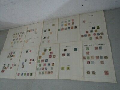 Nystamps German States many mint old stamp collection Album page high value