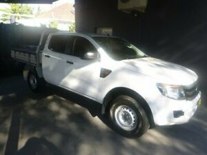 2015 Ford Ranger PX XL Double Cab 4x2 Hi-Rider White 6 Speed Sports Automatic Utility Merrylands Parramatta Area Preview
