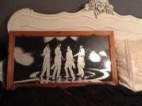 Large framed Beatles mirror
