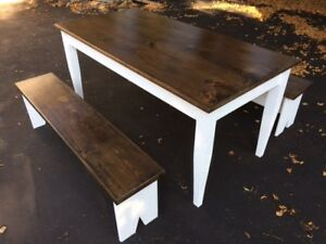 Beautiful hand made table and benches