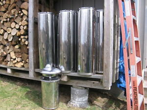 "6"" stainless steel insulated wood stove pipe   woodstove"