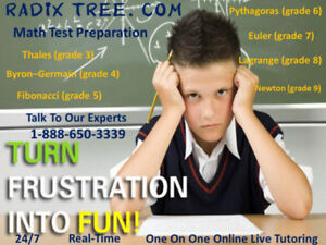 Online Tutoring available of Math and English At Home. Bathurst