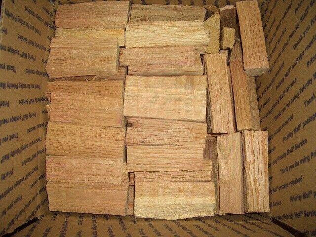 White Oak Wood Chunks for Smoking Grilling 14-20 lbs per box Free Ship NO BARK!