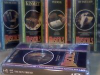 THE MUSICALS COLLECTION # 11-15 BY ORBIS PRERECORDED CASSETTE TAPES
