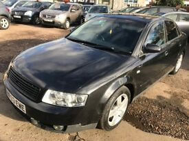 2003 Audi A4 1.8 T SE 4dr, MANUAL, BLACK, GOOD RUNNER, HPI CLEAR, 5 SEATER, PERFECT FOR NEW LEASRNER