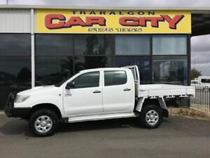 2012 Toyota Hilux KUN26R MY12 SR (4x4) White 5 Speed Manual Dual Cab Chassis Traralgon Latrobe Valley Preview