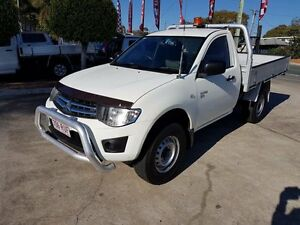 2011 Mitsubishi Triton MN MY11 GLX White 5 Speed Manual Cab Chassis Acacia Ridge Brisbane South West Preview