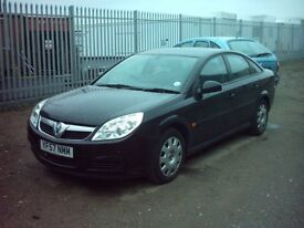 vectra 2007 , 1.8 2owners , jet black , runs well 1 £1695