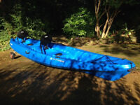 Wilderness Tarpon 130T double sit-on kayak. Blue. Hardly used