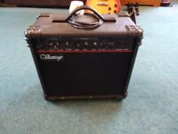 Vantage Practice Amp VG-15 15W Electric Guitar Amplifier With Overdrive