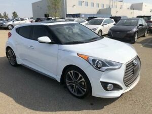 2017 Hyundai Veloster Turbo- Sunroof, Leather, LOW KM!!!