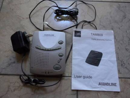 Audioline TAM 809 Digital Answering Machine with manual complete Cheltenham Hornsby Area Preview