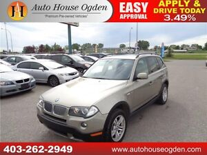 2008 BMW X3 3.0i LEATHER PANORAMIC ROOF AWD