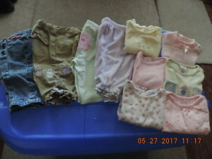 Girl's Size 3-6months Onesies, Undershirts, Pants & Tops