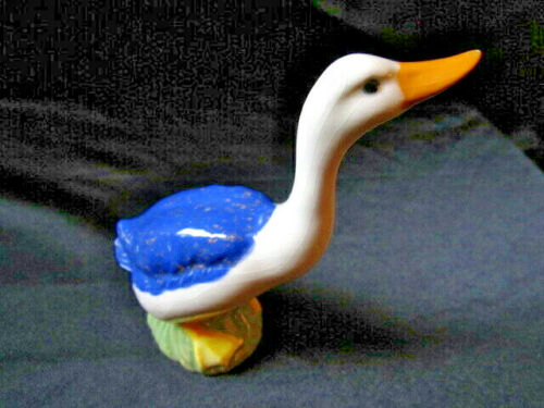 "GORGEOUS VINTAGE PORCELAIN 6"" DUCK HAND PAINTED SIGNED MK JAPAN"