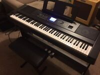 Yamaha DGX-650 Digital Portable Piano inc LP-7A Pedal Unit