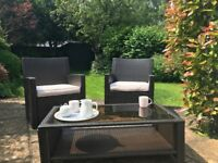 Riverside Wickler line Set with 2 Chairs & Table (£120 – Walton-on-Thames)