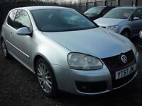 VOLKSWAGEN GOLF 2.0 GT SPORT TDI 3d 168 BHP Bargain Px to clear (silver) 2007