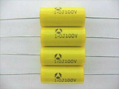 4pcs -1uf 105 100 Volts Metallized Polyester Film Capacitor Audio Guitar