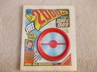 2000AD progs 1, 2, 3, 4, 5 & 22 from 1977 (with free gifts).