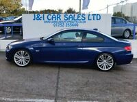 BMW 3 SERIES 2.0 320D M SPORT 2d 175 BHP jandicarsplymouth.co.u (blue) 2008