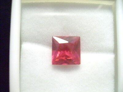 Lab Grown Ruby 10mm Princess Cut Lot of 10 Stones