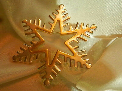 Best Signed Silver Plated W/Gold Tone Snowflake  Vintage 80's Star Brooch 146J8 (Best 80 S Costumes)