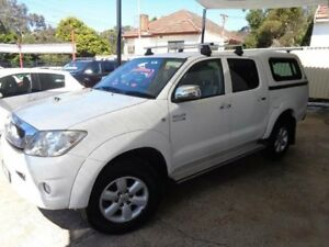 2011 Toyota Hilux KUN26R MY11 Upgrade SR5 (4x4) White 5 Speed Manual Dual Cab Pick-up Sylvania Sutherland Area Preview