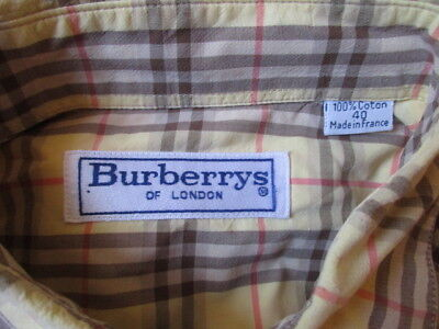 Chemise vintage burberry taille 40