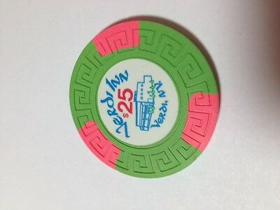 $25. VERDI INN, VERDI NEVADA  CASINO CHIP RATED R-7 (Very Rare) NEW COND.