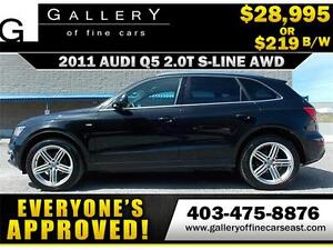 2011 Audi Q5 2.0T QUATTRO $219 bi-weekly APPLY NOW DRIVE NOW