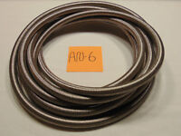 BRAIDED STAINLESS STEEL AN-6 HOSE COMPATIBLE WITH MANY FLUIDS