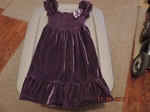 Girl's Size 6 Velour  Dress