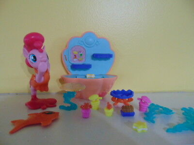 My Little Pony Pinkie Pie Mermaid Seashell Accessory seaweed cupcake star crab  ()