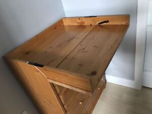 Elegant Wooden Dresser with Changing Table