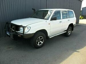 1999 Toyota Landcruiser HZJ105R GXL White 5 Speed Manual Wagon Kippa-ring Redcliffe Area Preview