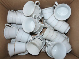 24 Piece Porcelain CUPS and SAUCERS