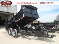 IN STOCK READY TO DUMP-7 TON HYDRAULIC DUMP 83'' WIDE X 12' LONG