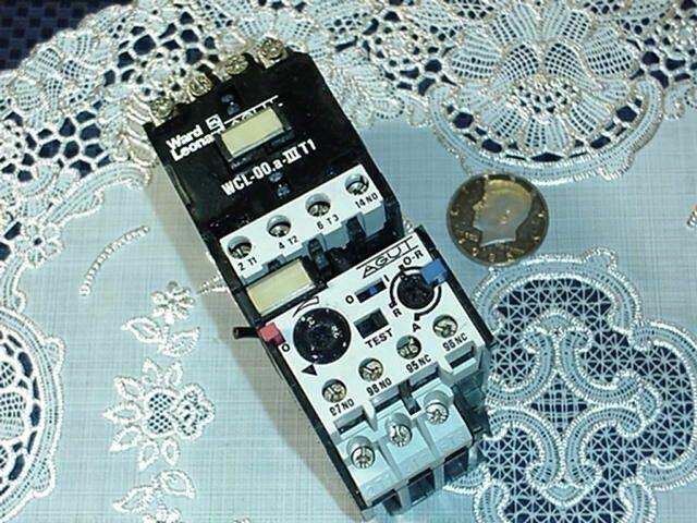 Ward Leonard AGUI WCL-00.a-IIIT1 Contactor W/ RILO-2,6 OverLoad, 110/120V Coil