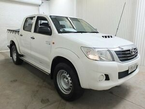 2012 Toyota Hilux KUN26R MY12 SR (4x4) Glacier White 4 Speed Automatic Dual Cab Pick-up Salisbury Plain Salisbury Area Preview