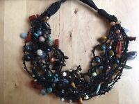 chunky multistone necklace