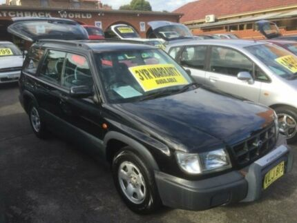 1998 Subaru Forester 79V Limited Black 4 Speed Automatic Wagon Five Dock Canada Bay Area Preview