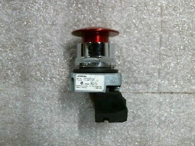 Used Siemens 52PP2A2A Red E-Stop Mushroom Push-Pull Button - 60 day warranty