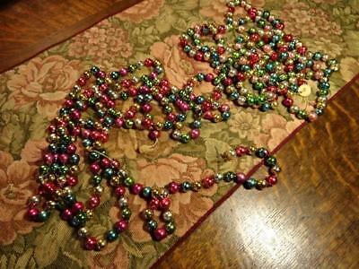 VINTAGE ANTIQUE MULTI COLORED MERCURY GLASS CHRISTMAS TREE GARLAND ORNAMENT