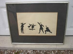 LIsted artist, Moe Reinblatt (1917-79), Girls Skipping etching