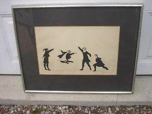 LIsted artist, Moe Reinblatt (1917-79), Girls Skipping etching